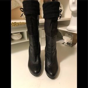 Fifth Avenue leather boots can wear half or tall